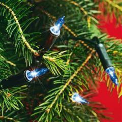 Troya égősor karácsonyi Kék