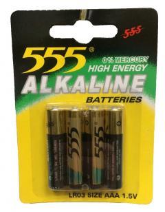 555 elem 1.5V Alkaline AAA/LR03/4 db-os