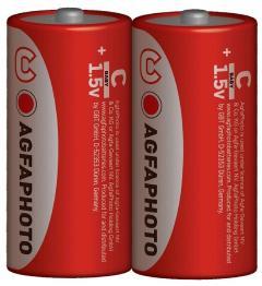 AgfaPhoto elem 1,5 V féltartós Baby Super Heavy Duty Premium C/R14/2 db-os