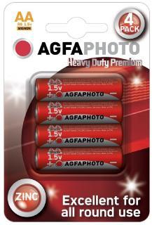 AgfaPhoto elem 1,5 V féltartós Ceruza Heavy Duty Premium AA/R6/4 db-os