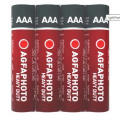 AgfaPhoto elem 1,5 V féltartós Mikro Super Heavy Duty Premium AAA/R03/4 db-os - Fóliás