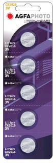 AgfaPhoto elem 3 V Lithium Gomb CR2016 5db-os