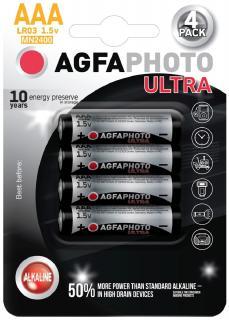 AgfaPhoto Ultra elem 1,5 V Alkáli Ceruza AAA/LR03/4 db-os