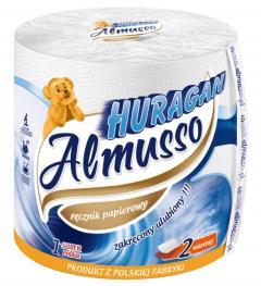 Almusso Huragan papírtörlő 1 t. 2 r. 100 % cellulóz 60.m
