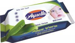 Aquella nedves baba törlőkendő 60 db PH 5.5 Aloe vera kivonattal AQU.BBA.60