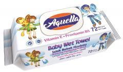 Aquella nedves baba törlőkendő 72 db E vitaminos és B5 provitaminnal FLIPTOP AQU.VIF.72