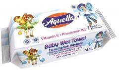 Aquella nedves baba törlőkendő 72 db E vitaminos és B5 provitaminnal AQU.VIT.72