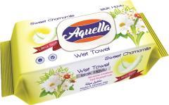 Aquella nedves törlőkendő 100 db PH 5.5 Ultra puha Kamilla illattal FLIPTOP AQU.BCF.100