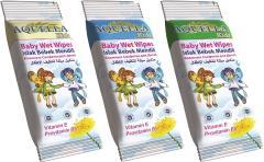 Aquella nedves törlőkendő 12 db E vitaminos és B5 provitaminnal AQU.VIT.12.