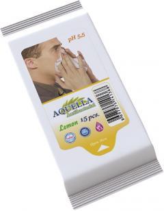 Aquella nedves törlőkendő 15 db  Citrom illattal AQU.ANL.15