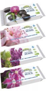 Aquella nedves törlőkendő 15 db  Virág illattal AQU.REF.15