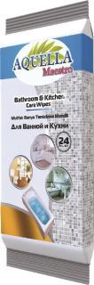 Aquella nedves törlőkendő 24 db Mester konyha - és fürdőszoba tisztító AQU.GEN.24