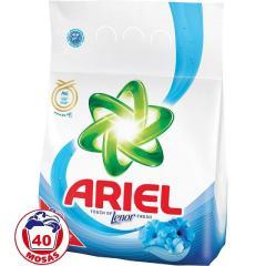 Ariel mosópor 3 kg 40 mosás Fehér ruhához- Lenor of Touch Fresh