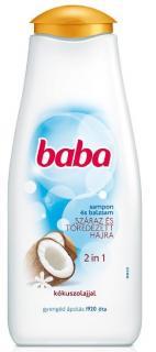 Baba sampon 400 ml Száraz töredezett hajra - 2 in 1 kókuszolajjal