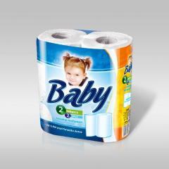 Baby papírtörlő 2 t. 2 r. 100% cellulóz 2x50 lap Fehér
