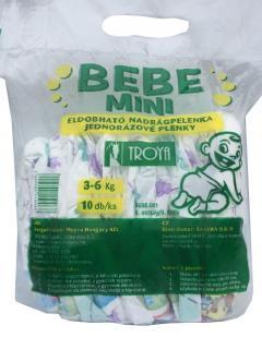 Bebe pelenka 10 db-os MINI (2) 3-6 kg. 2. osztályú ECO - ILLATOS