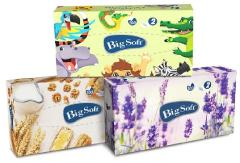 Big Soft kozmetikai kendő 2 r. 100lap 100% cellulóz ( dobozos )