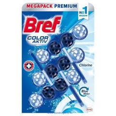 Bref wc golyó Color Active 3 x 50 g Chlorine Blue Aktive