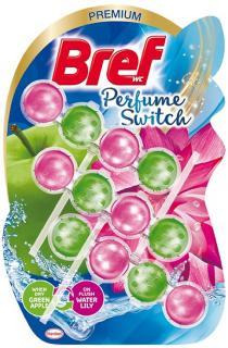Bref wc tisztító és illatosító golyó Aqua Active 3x50 g Floral Apple and Water Lily ( Parfume Swich