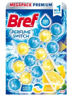 Bref wc golyó Aqua Active 3 x 50 g Marine aromatic and citrus (Parfume Swich)