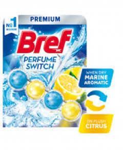 Bref wc tisztító és illatosító golyó Aqua Active 50 g Marine aromatic and citrus (Parfume Swich)