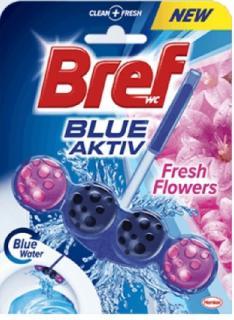 Bref wc tisztító és illatosító golyó Blue Active 50 g Fresh Flowers