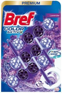 Bref wc tisztító és illatosító golyó Color Aktiv 3 x 50 g Levander/Bluea Activ