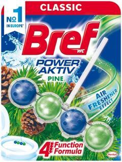 Bref wc tisztító és illatosító golyó Power Active 50 g Pine