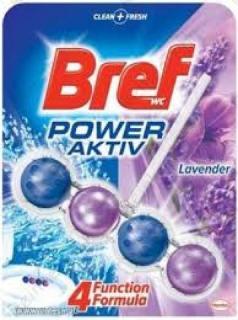 Bref wc tisztító és illatosító golyó Power Active 50 g Lavender