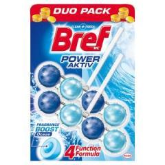 Bref wc tisztító és illatosító golyó Power Active 2 x 50 g Ocean