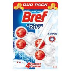 Bref wc tisztító és illatosító golyó Power Active 2 x 50 g Chlorine
