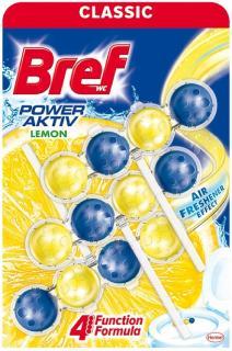 Bref wc golyó Power Active 3 x 50 g Lemon