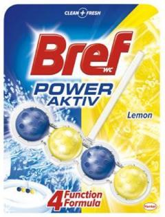 Bref wc tisztító és illatosító golyó Power Active 50 g Lemon