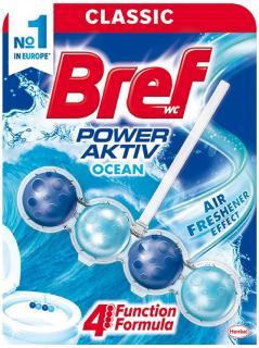 Bref wc tisztító és illatosító golyó Power Active 50 g Ocean