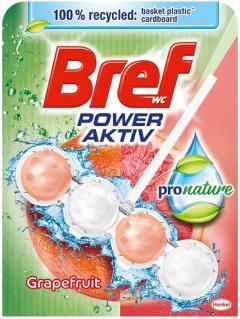 Bref wc tisztító és illatosító golyó Power Active 50 g Grapefruit