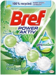 Bref wc tisztító és illatosító golyó Power Active 50 g Mint Eucalyptus