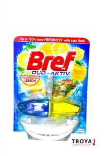 Bref wc tisztító és illatosító gél Duo Aktiv 50 ml kosaras Lemon