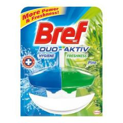 Bref wc tisztító és illatosító gél Duo Aktiv 50 ml kosaras Pine