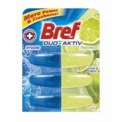 Bref wc tisztító és illatosító utántöltő gél Duo Aktiv 3 x 50 ml Lime and Mint