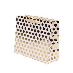 CBE ajándéktáska arany mintás 30x39,5x12 cm