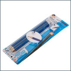 CBE ceruza 6db-os szett (radír+hegyező)