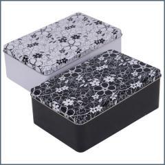 CBE doboz fém fekete fehér wb005