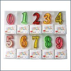 CBE gyertya szám színes