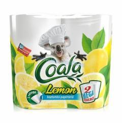 Coala papírtörlő 2 t. 2 r. 100% cellulóz 2 x 100 lap Mega Lemon