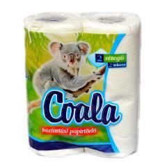 Coala papírtörlő 2 t. 2 r. 100% cellulóz 2x45 lap Fehér