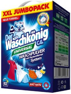 Der Waschkönig mosópor 7,5 kg 92 mosás Universal XXL Jumbopack