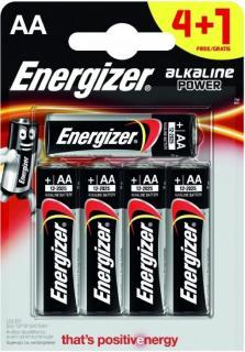 Energizer elem 1,5 V Alkáli Power AA/LR6/4+1 db-os
