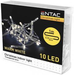 Entac Karácsonyi Beltéri Füzér 10 LED WW 1m (2AA)-ECL-10WW