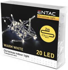 Entac Karácsonyi Beltéri Füzér 20 LED WW 2m (3AA)-ECL-20WW