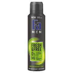 Fa dezodor 150 ml Fresh and Free Mint and Beergamot Scent - férfi